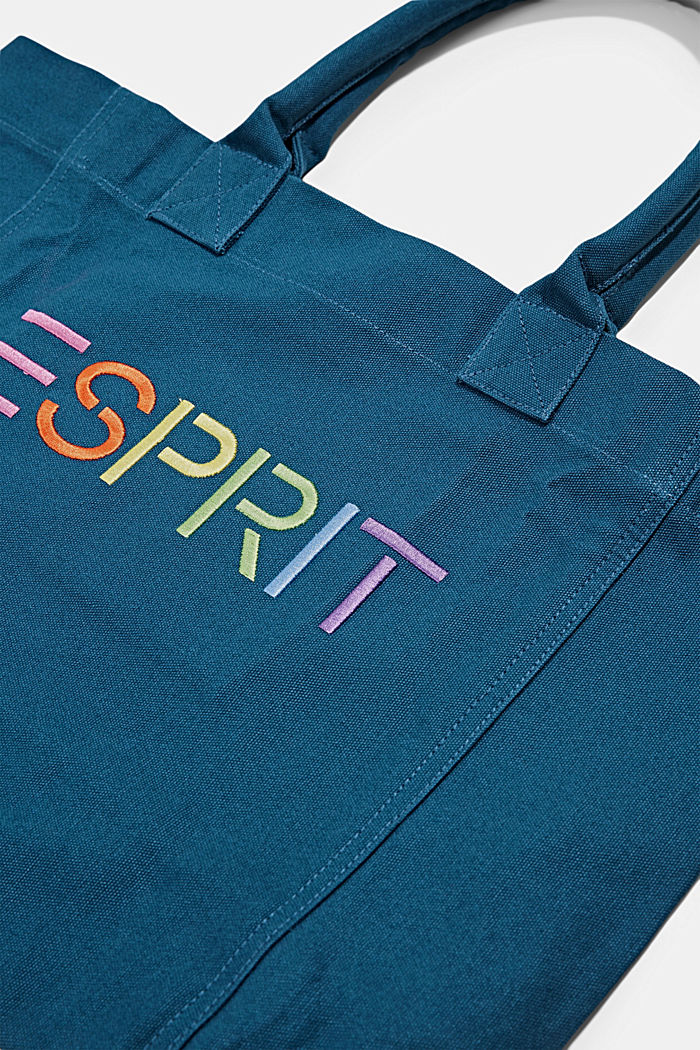 Canvas bag with logo embroidery, BRIGHT BLUE, detail image number 3