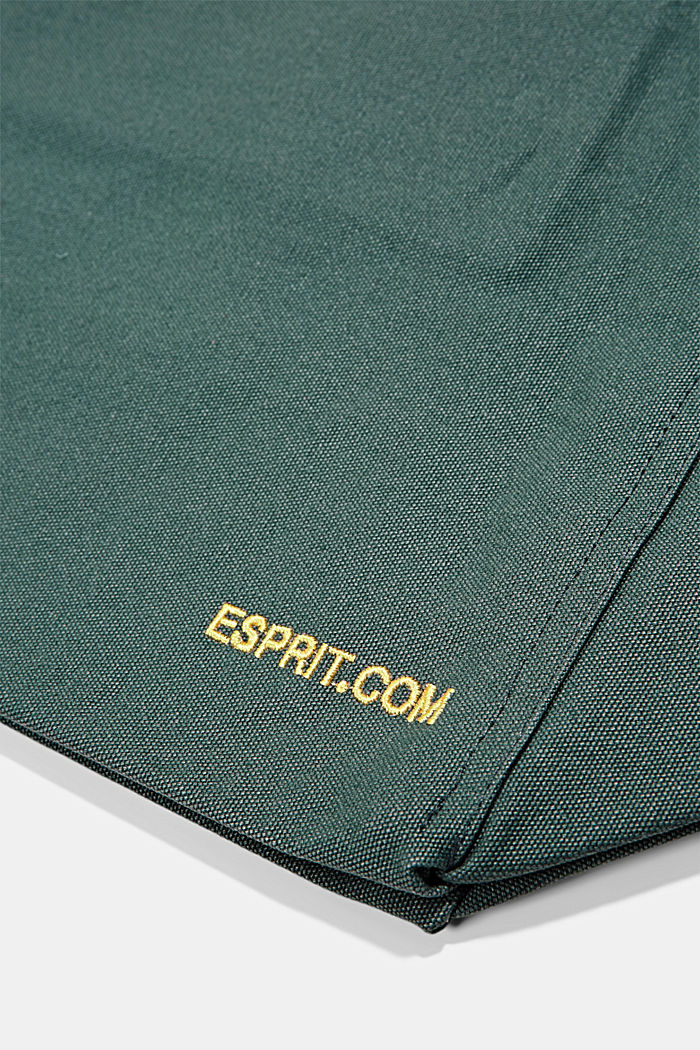 Canvas-Tasche mit Logo-Stickerei, TURQUOISE, detail image number 4