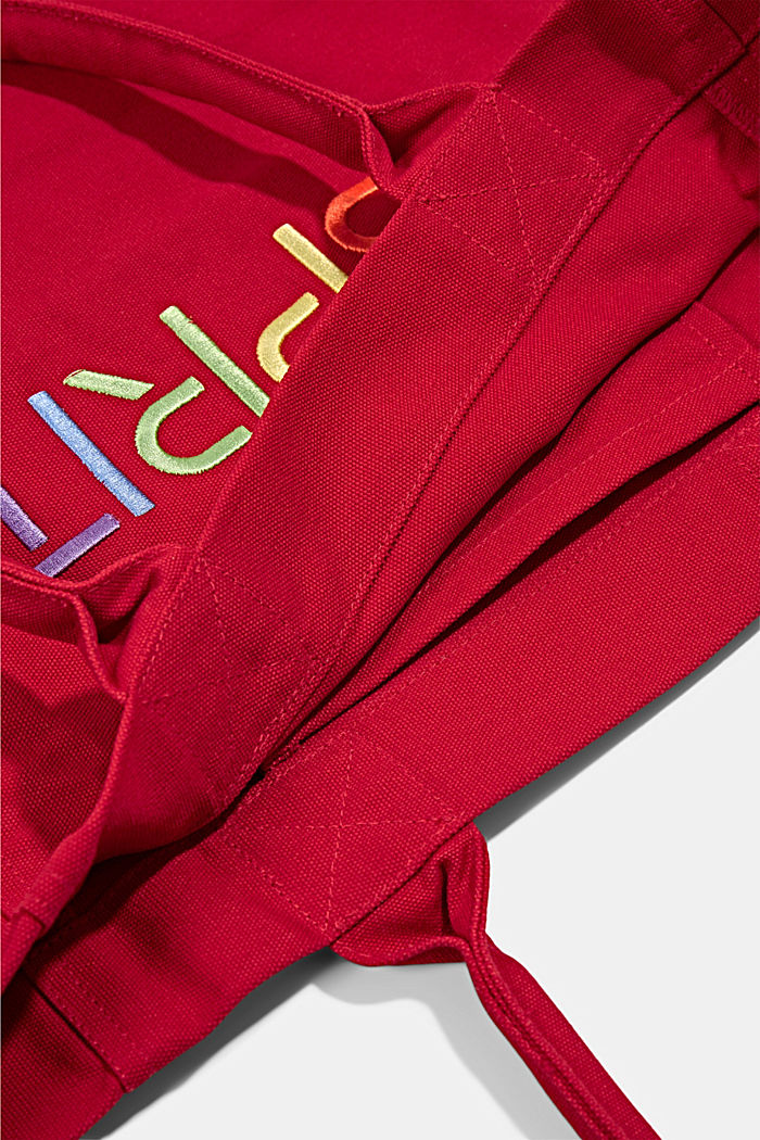 Canvas-Tasche mit Logo-Stickerei, RED, detail image number 3