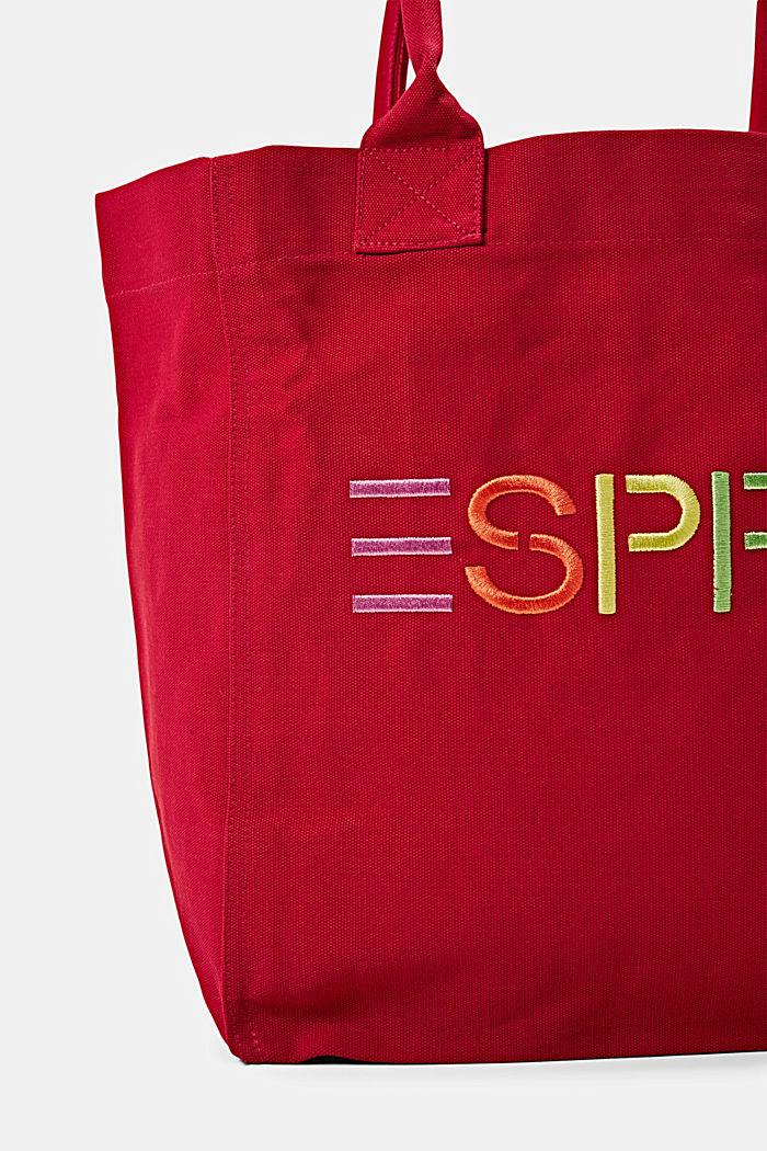 Canvas-Tasche mit Logo-Stickerei, RED, detail image number 2