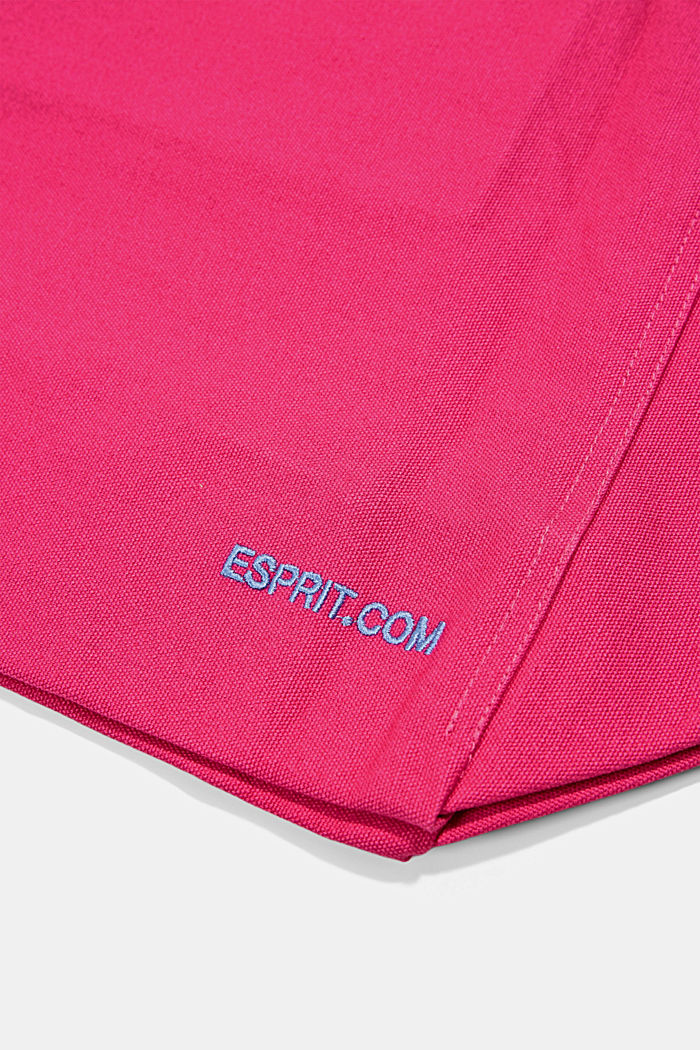 Canvas bag with logo embroidery, PINK FUCHSIA, detail image number 5