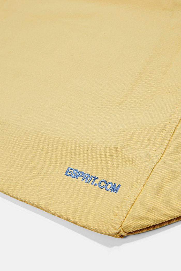Canvas-Tasche mit Logo-Stickerei, YELLOW, detail image number 5