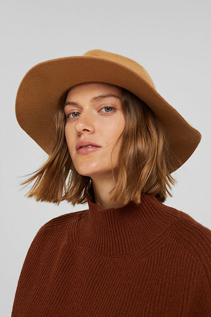 Chapeau fedora 100% laine