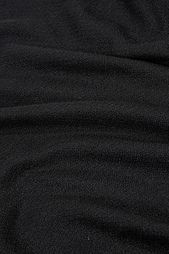Recycelt: einfarbiger Web-Schal in Loop-Form, BLACK, detail image number 2