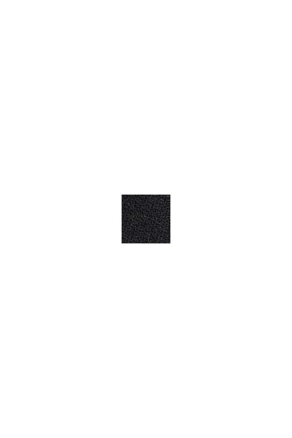 In materiale riciclato: sciarpa ad anello in tessuto tinta unita, BLACK, swatch