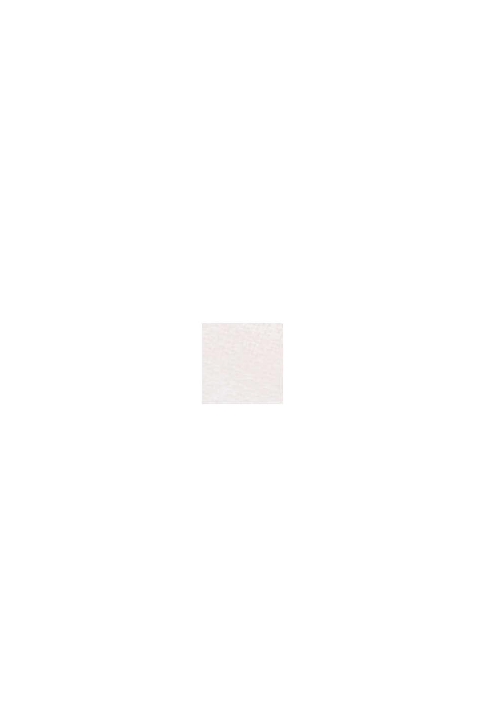 In materiale riciclato: sciarpa ad anello in tessuto tinta unita, OFF WHITE, swatch