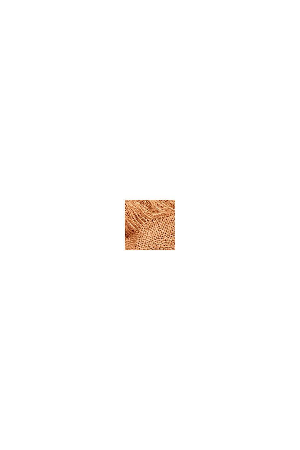 In materiale riciclato: sciarpa ad anello in tessuto tinta unita, CARAMEL, swatch