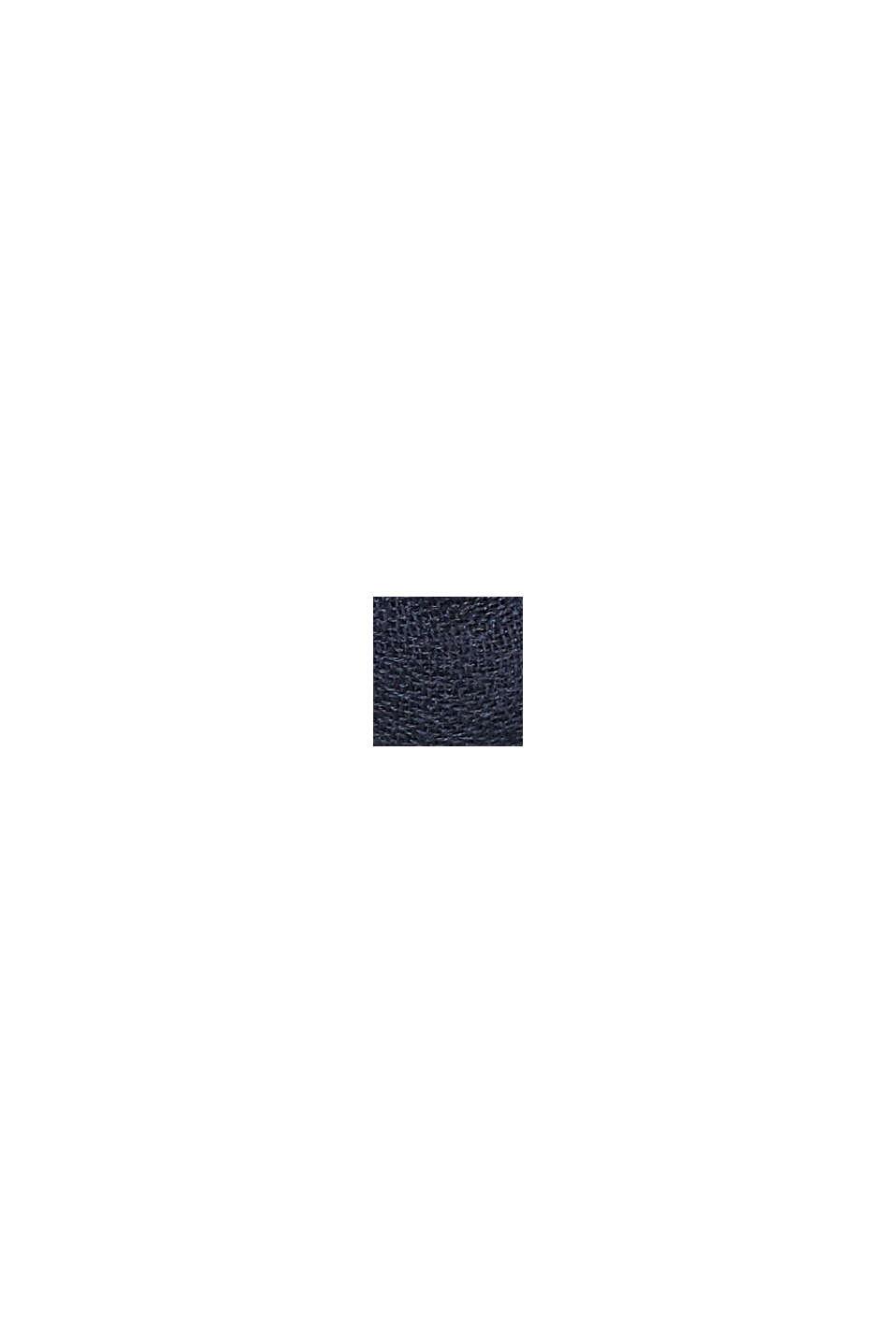 In materiale riciclato: sciarpa ad anello in tessuto tinta unita, NAVY, swatch
