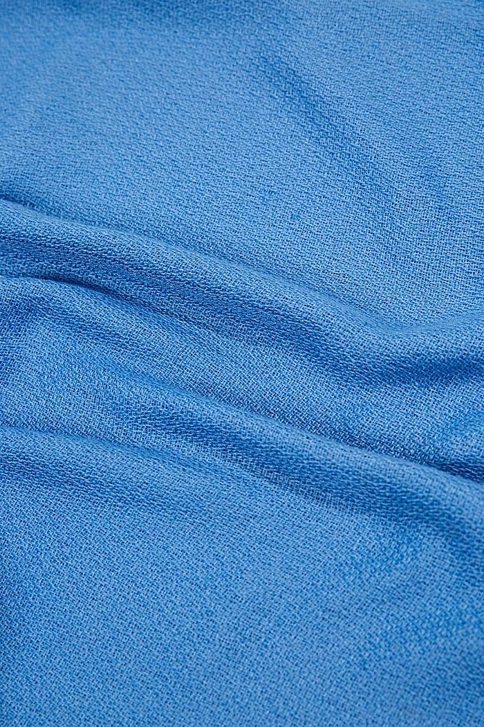 Recycelt: einfarbiger Web-Schal in Loop-Form, GREY BLUE, detail image number 2
