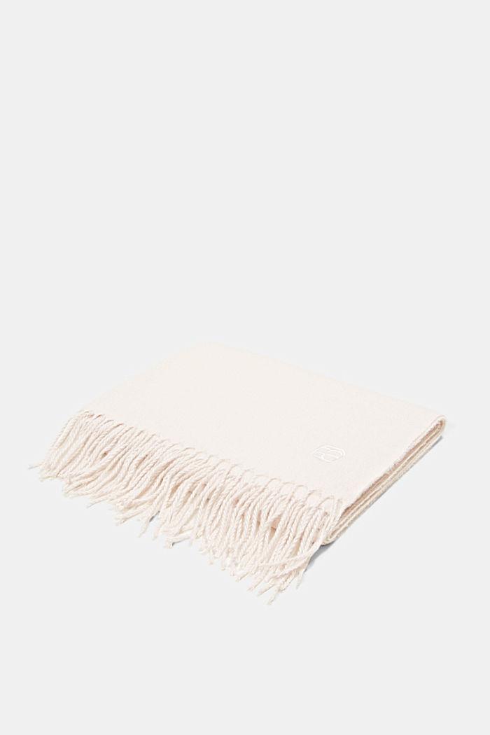Recycelt: extraweicher Webschal mit Fransen, OFF WHITE, detail image number 3