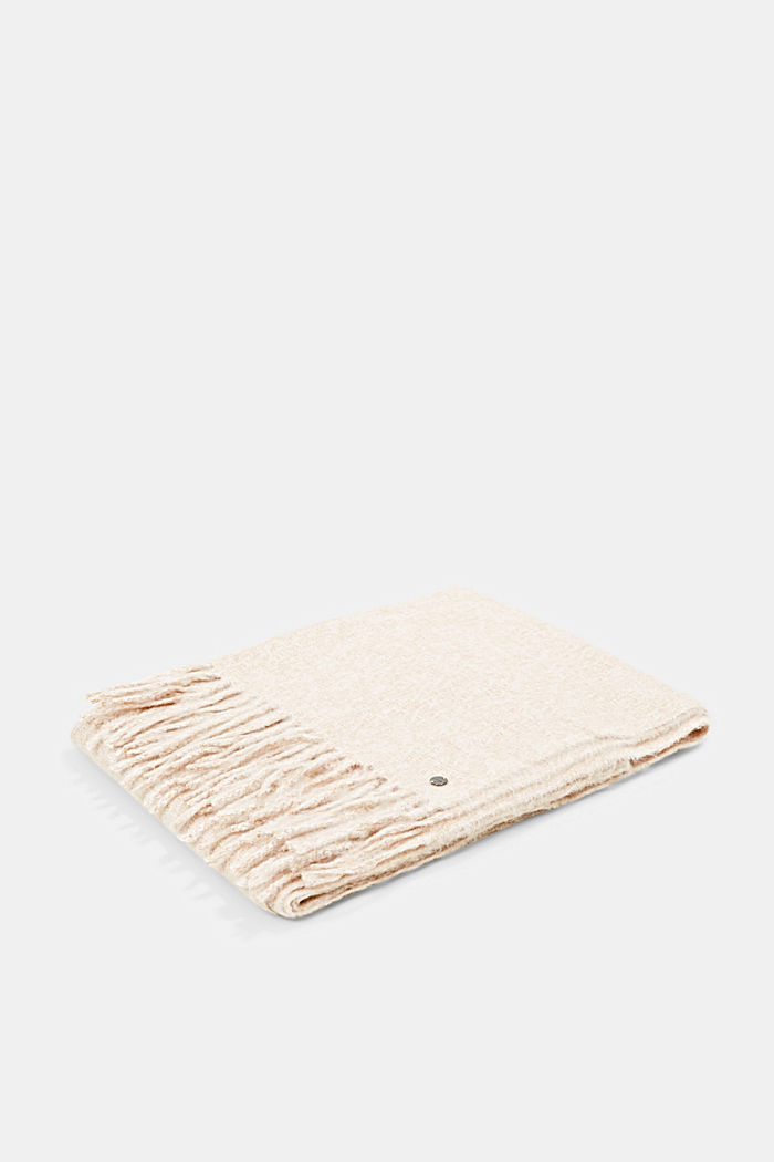 Tissu doux à la texture chinée, KHAKI BEIGE, detail image number 3