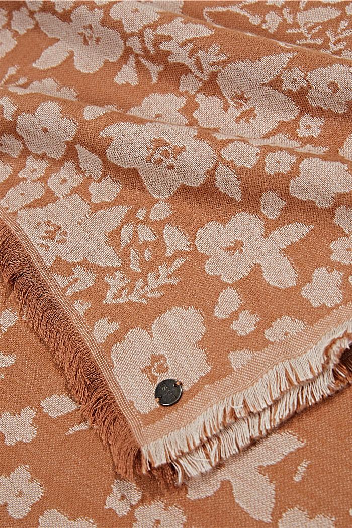 Webschal aus Baumwolle/LENZING™ ECOVERO™, CARAMEL, detail image number 2
