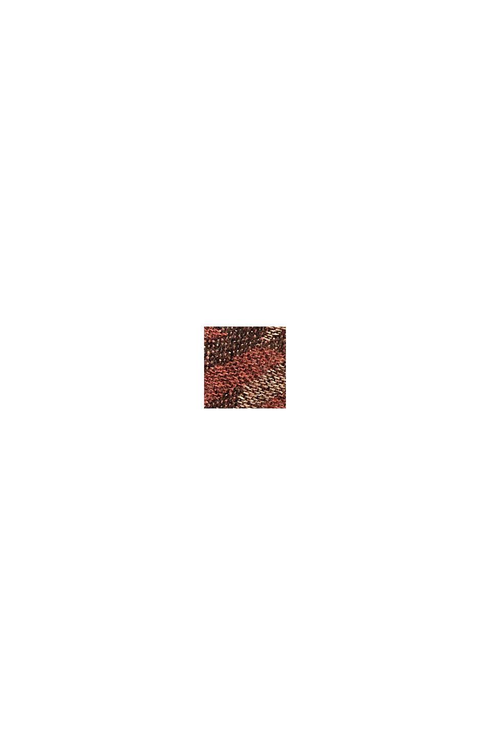 En matières recyclées: le foulard à grand motif pied-de-poule, KHAKI BEIGE, swatch
