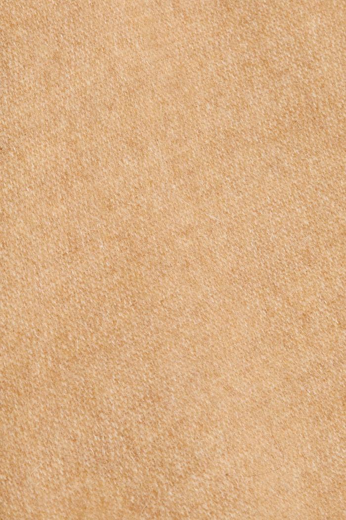 En matière recyclée: poncho/cape réversible à franges, CARAMEL, detail image number 2