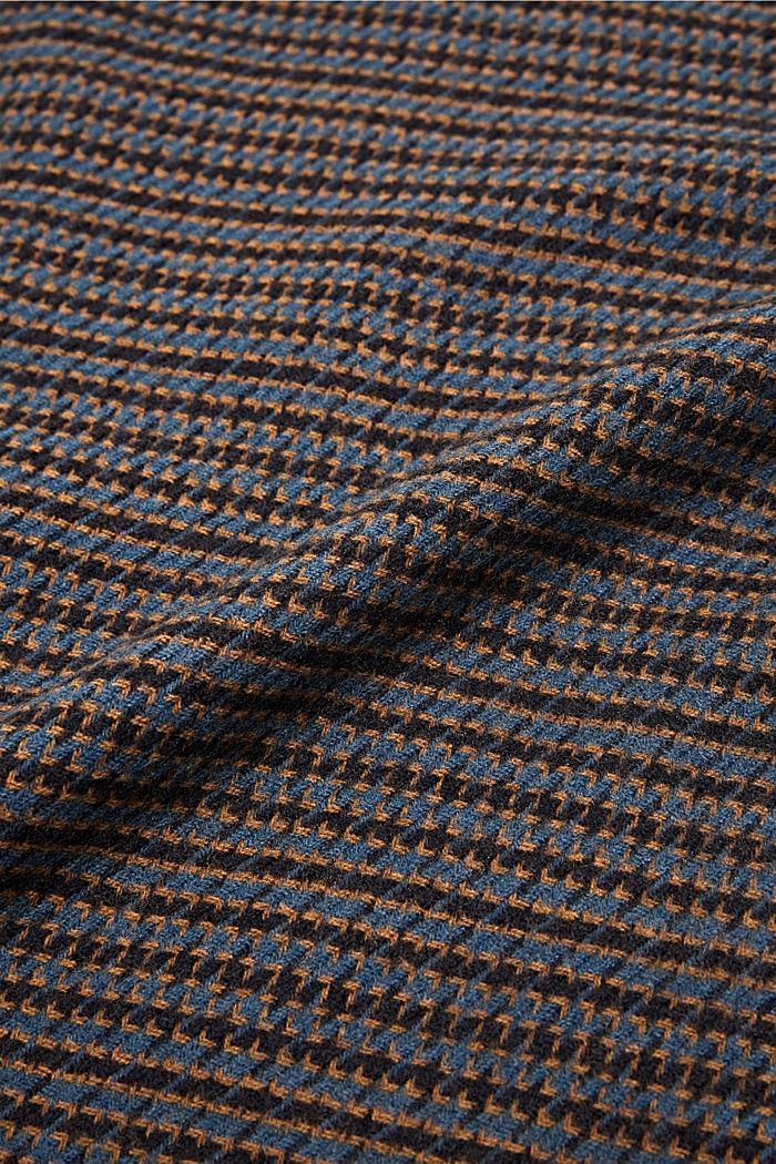 Reciclado: Fular con diseño de pata de gallo, GREY BLUE, detail image number 2
