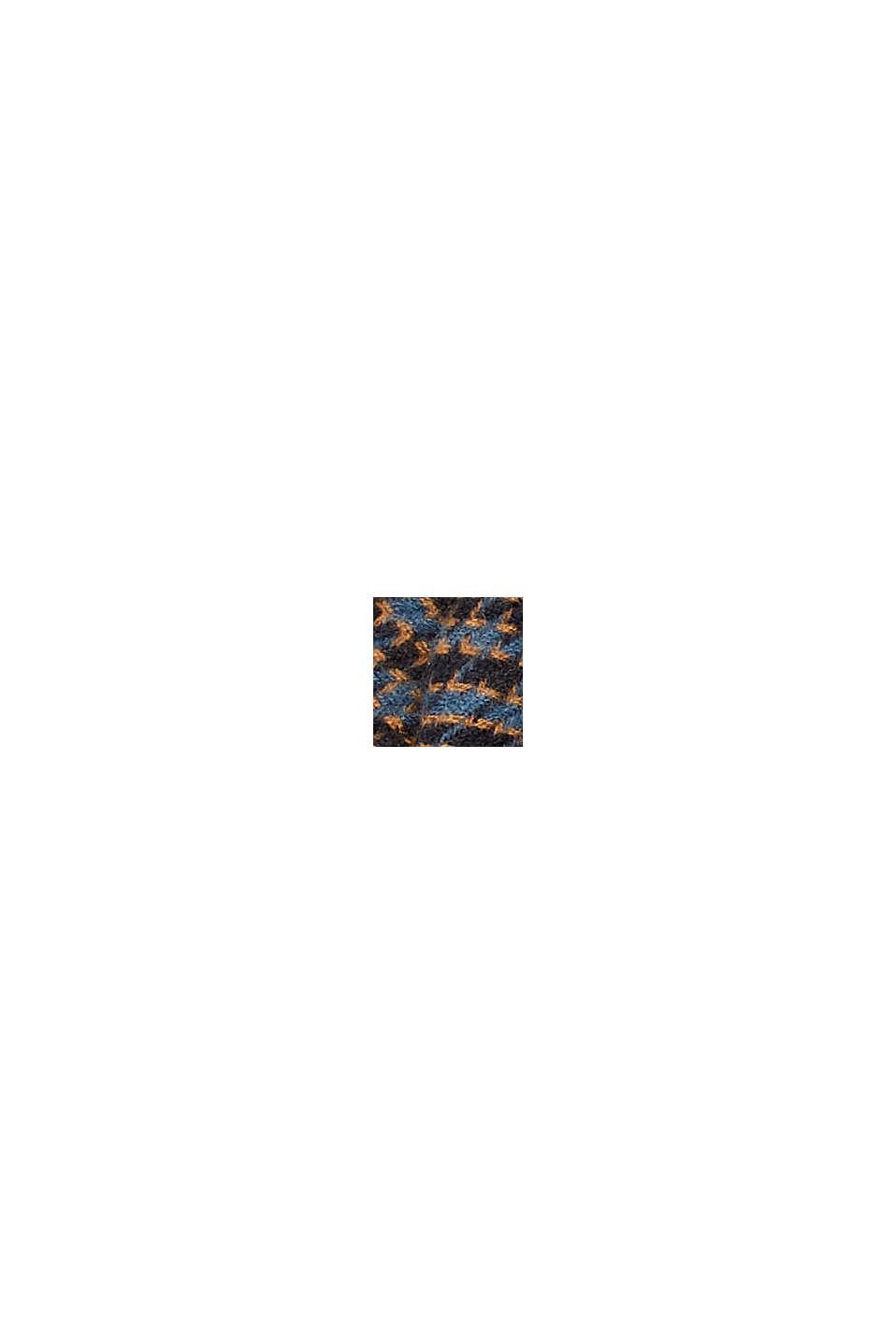 En matière recyclée: l'écharpe tissée à motif pied-de-poule, GREY BLUE, swatch