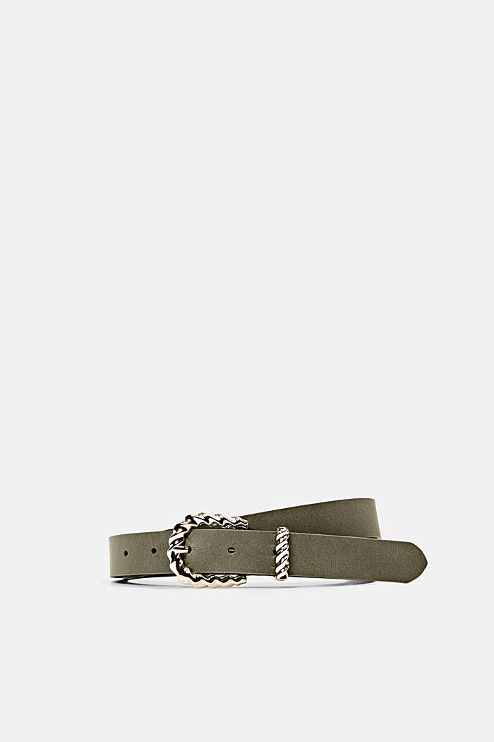 Ledergürtel mit Zier-Schließe aus Metall