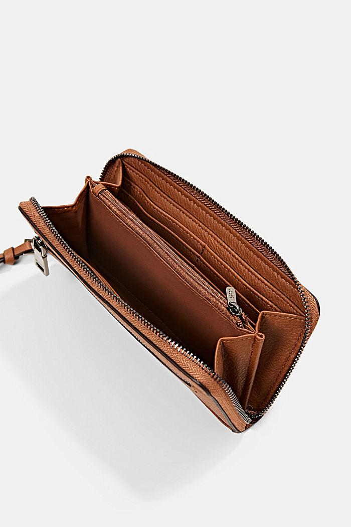 Geldbörse in Lederoptik mit Tasselanhänger, RUST BROWN, detail image number 3