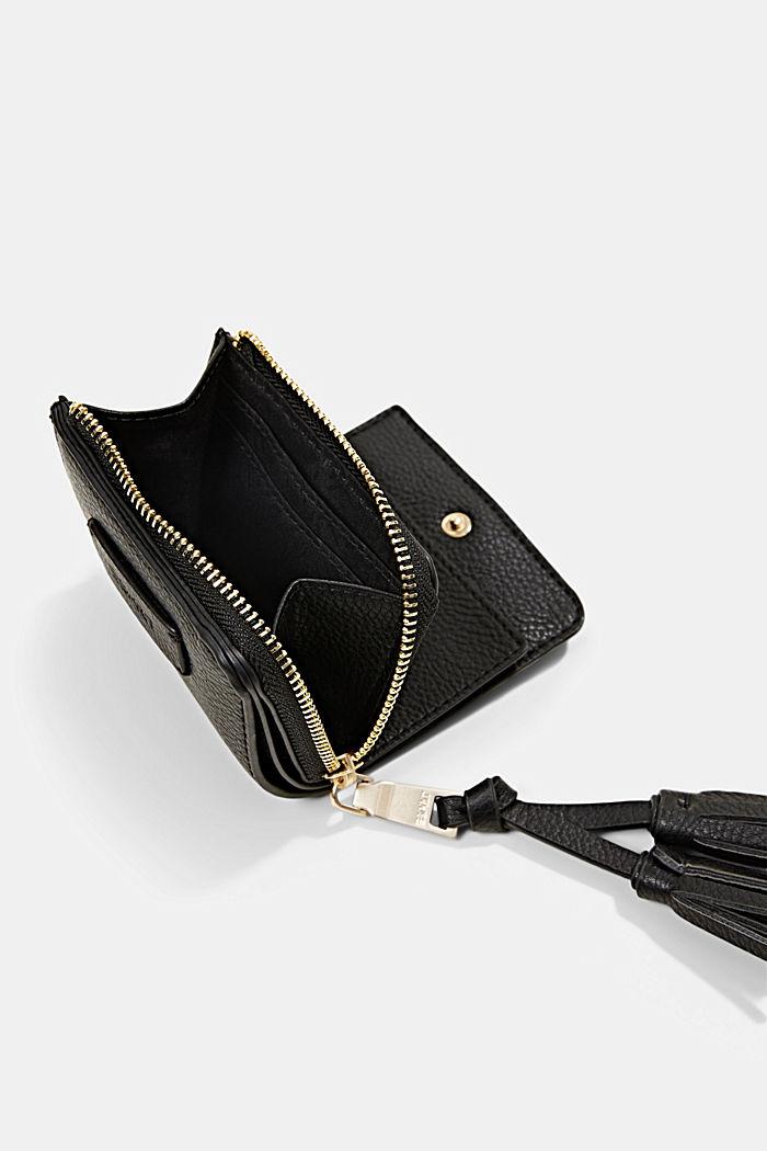 Geldbörse in Lederoptik mit Tasselanhänger, BLACK, detail image number 1