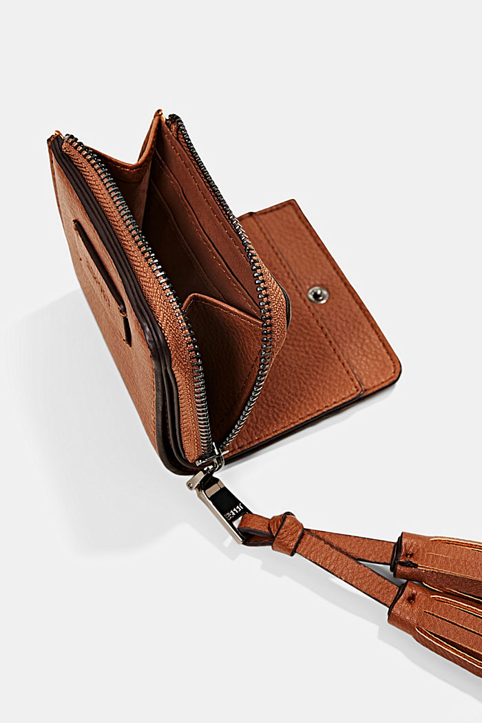 Portemonnee van imitatieleer met kwastje, RUST BROWN, detail image number 1
