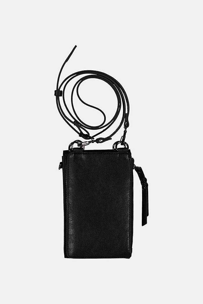 Phone Bag mit Geldbörse in Lederoptik, BLACK, detail image number 1