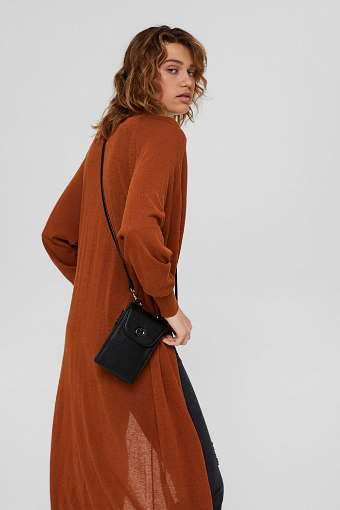 Mobilväska med plånbok i skinnlook