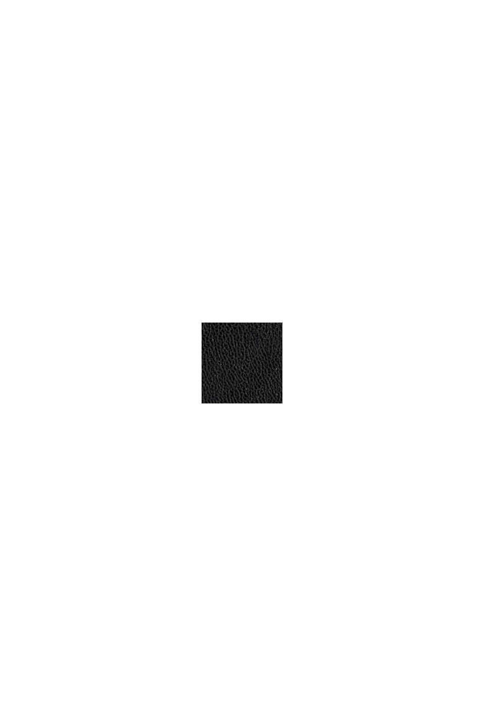 Mobilväska med plånbok i skinnlook, BLACK, swatch