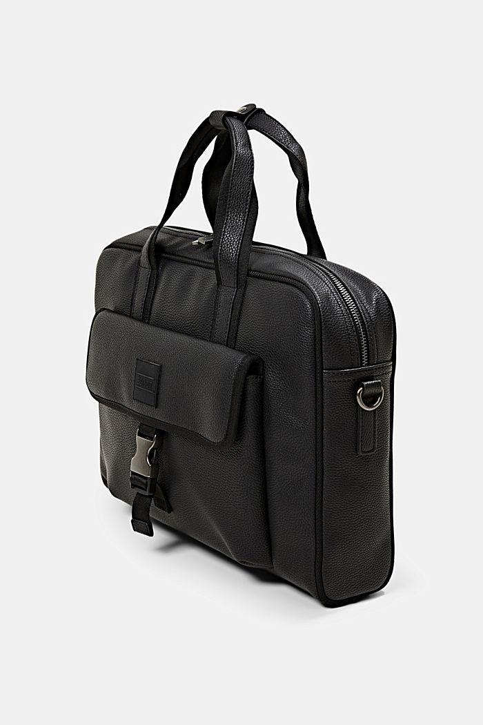 Vegan: Business-Tasche, BLACK, detail image number 2