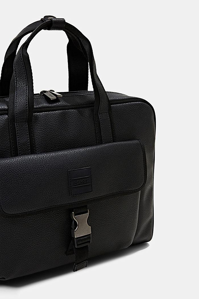 Vegan: Business-Tasche, BLACK, detail image number 3