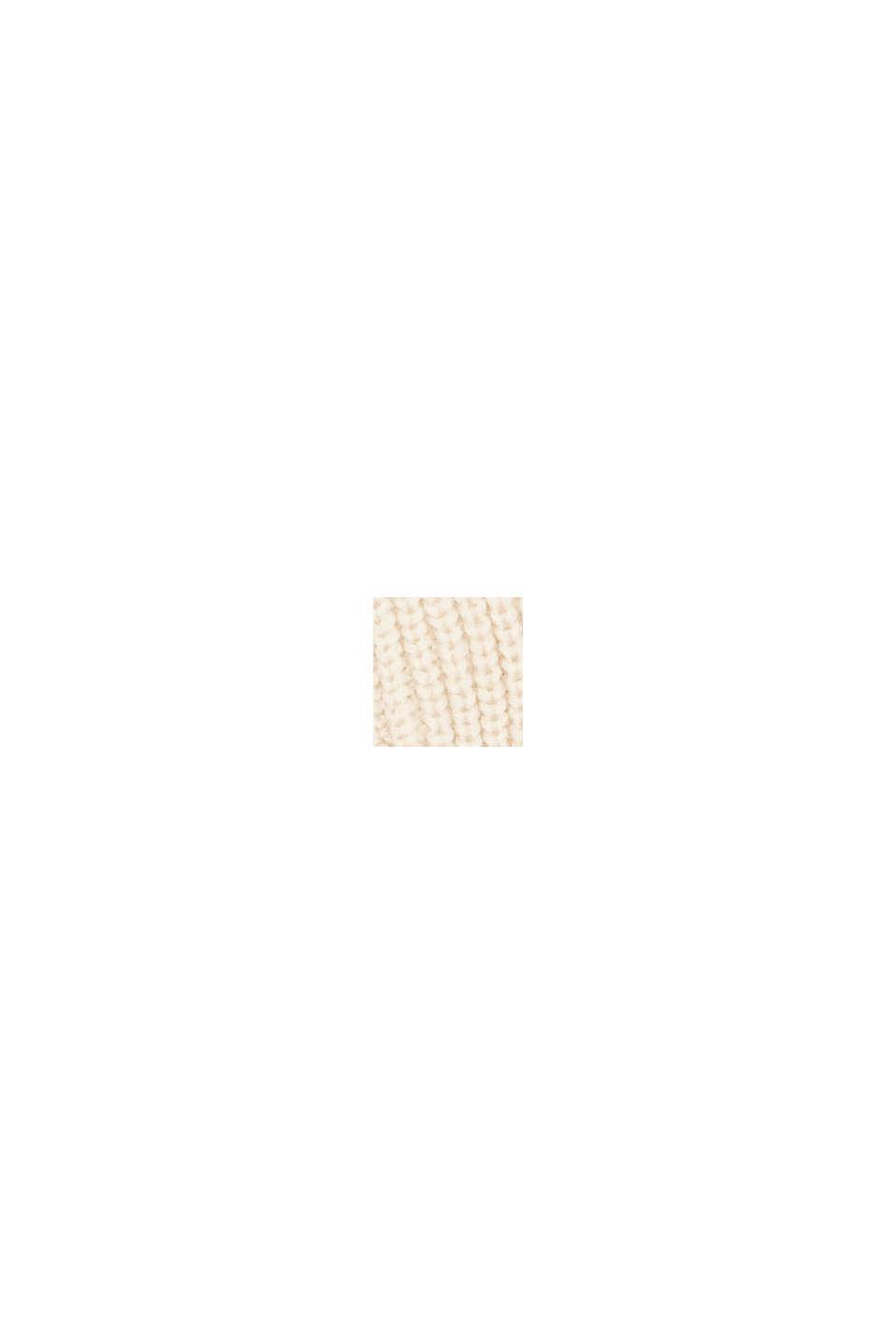 Bonnet en maille côtelée à teneur en laine RWS, OFF WHITE, swatch