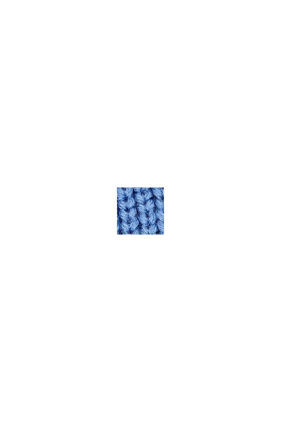 Ribbstickad beaniemössa med RWS-ull, BLUE, swatch