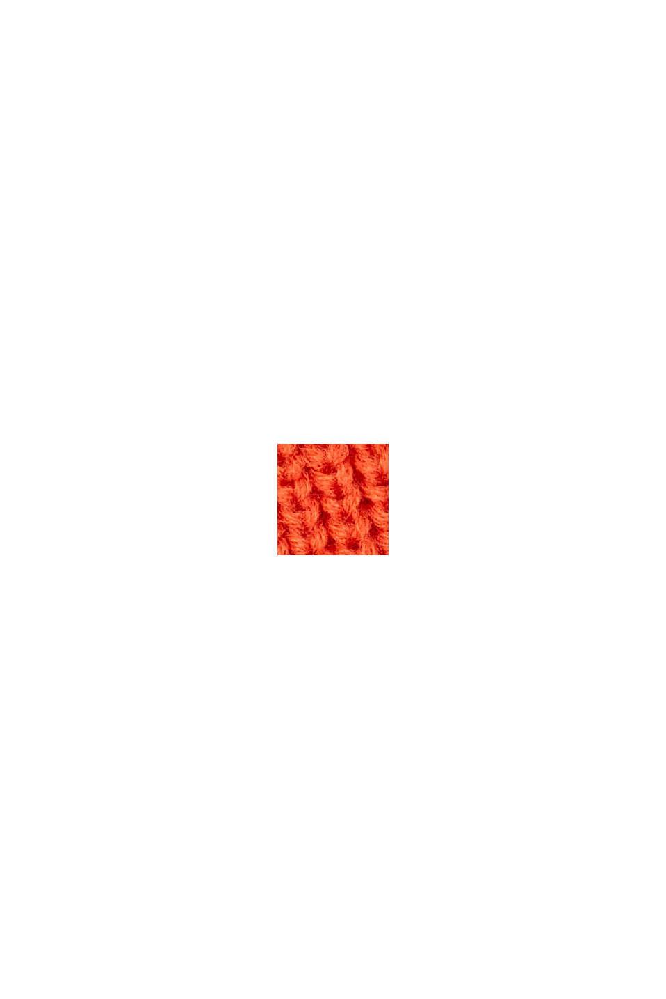 Gorro de punto acanalado con lana responsable (RWS), ORANGE, swatch