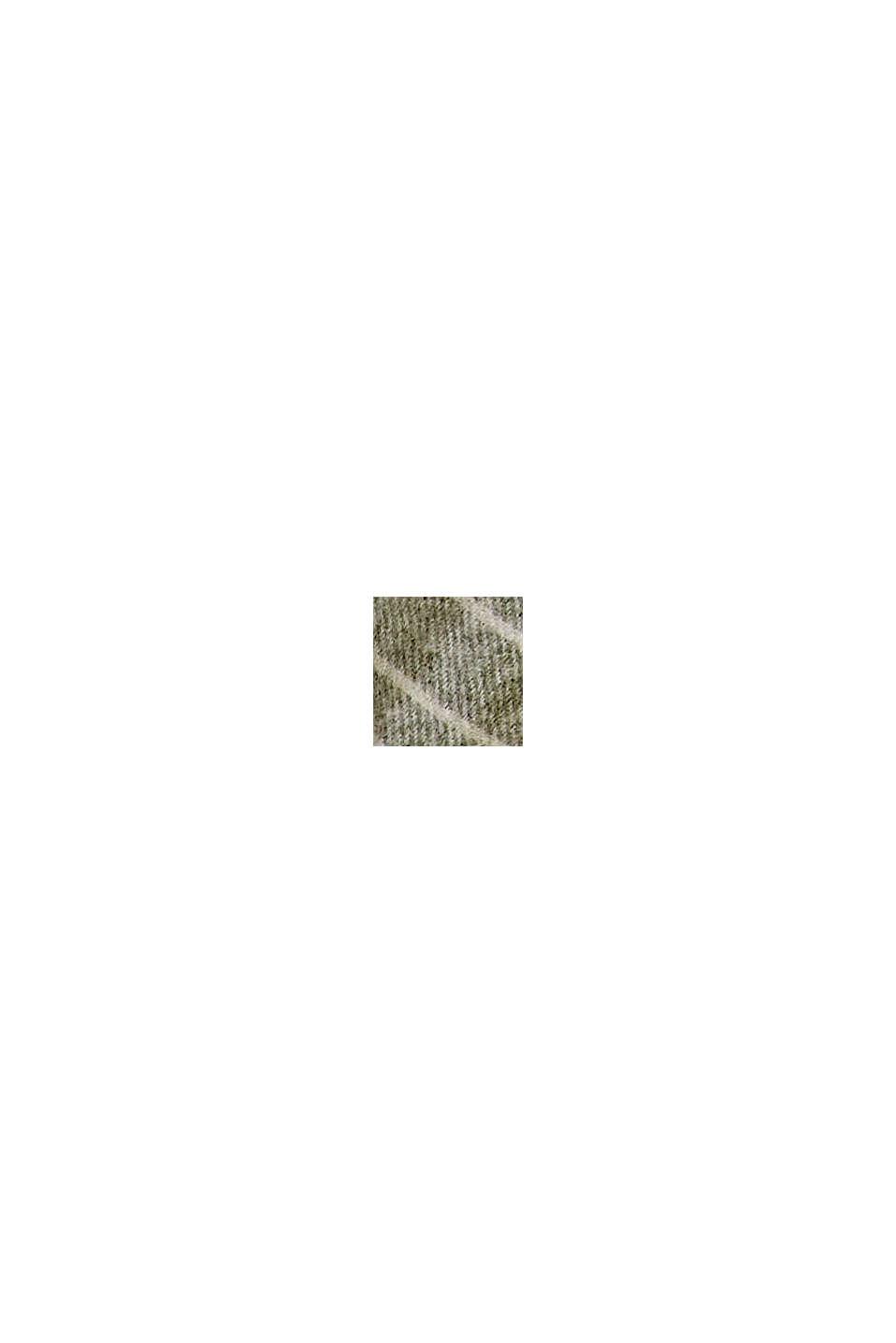 Recycelt. weicher Webschal mit Karomuster, DUSTY GREEN, swatch
