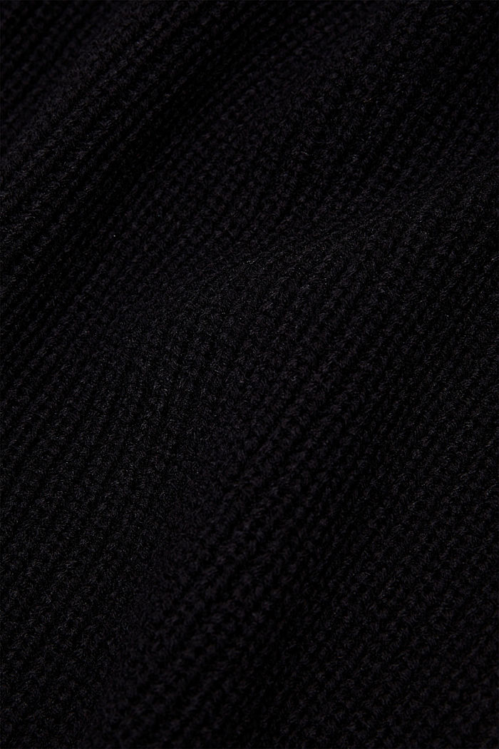 Schalkragen mit responsible Wool, BLACK, detail image number 2