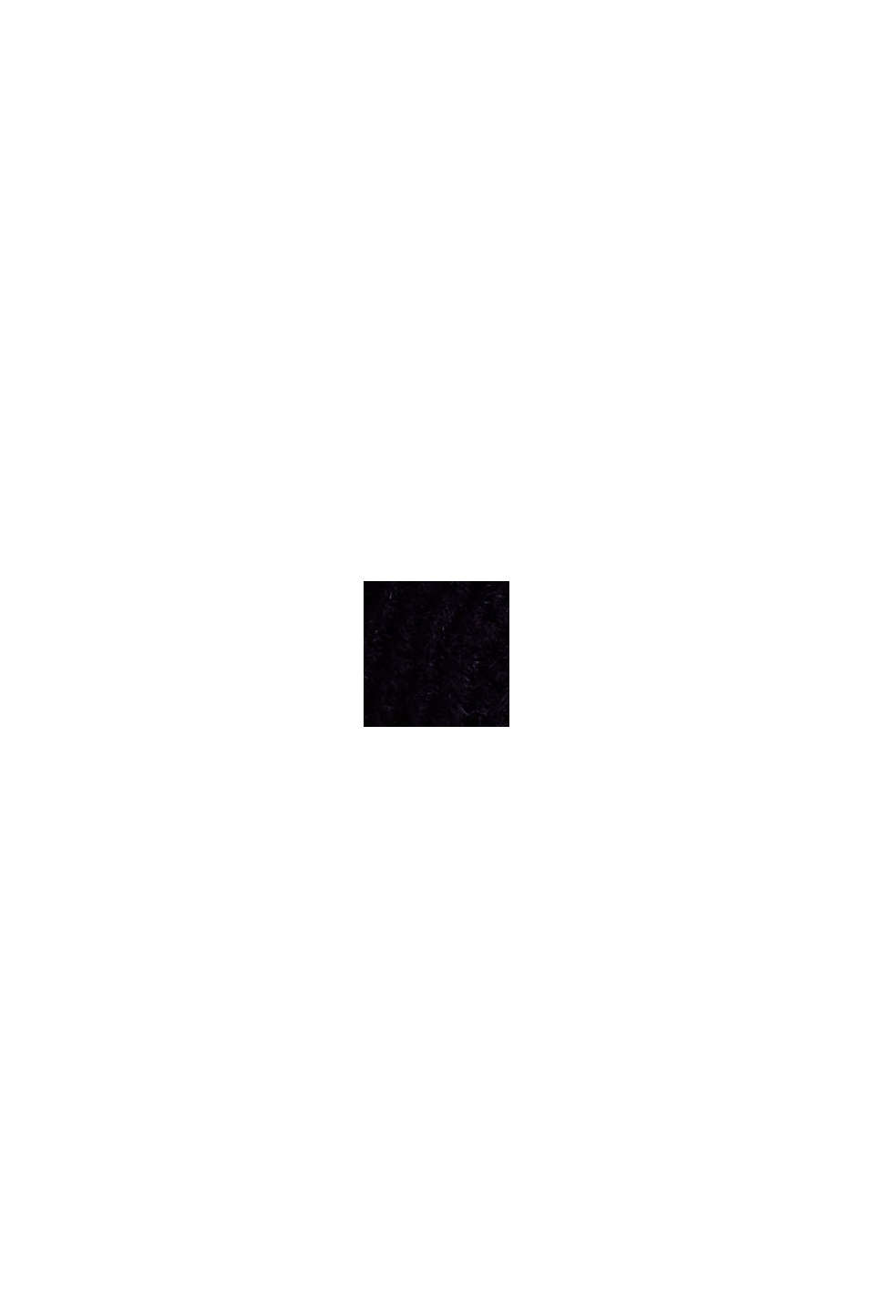 Schalkragen mit responsible Wool, BLACK, swatch