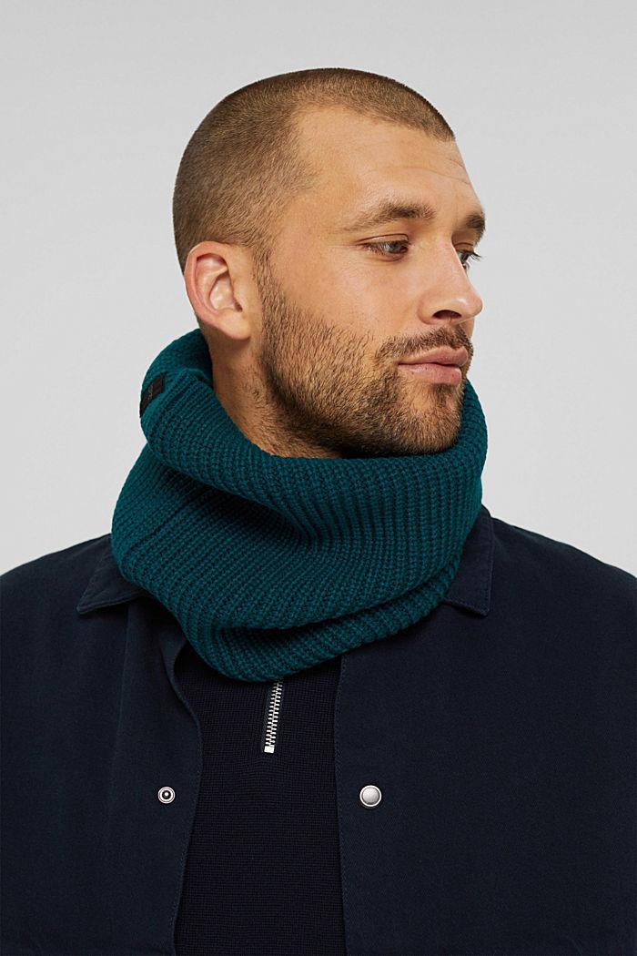 Schalkragen mit responsible Wool