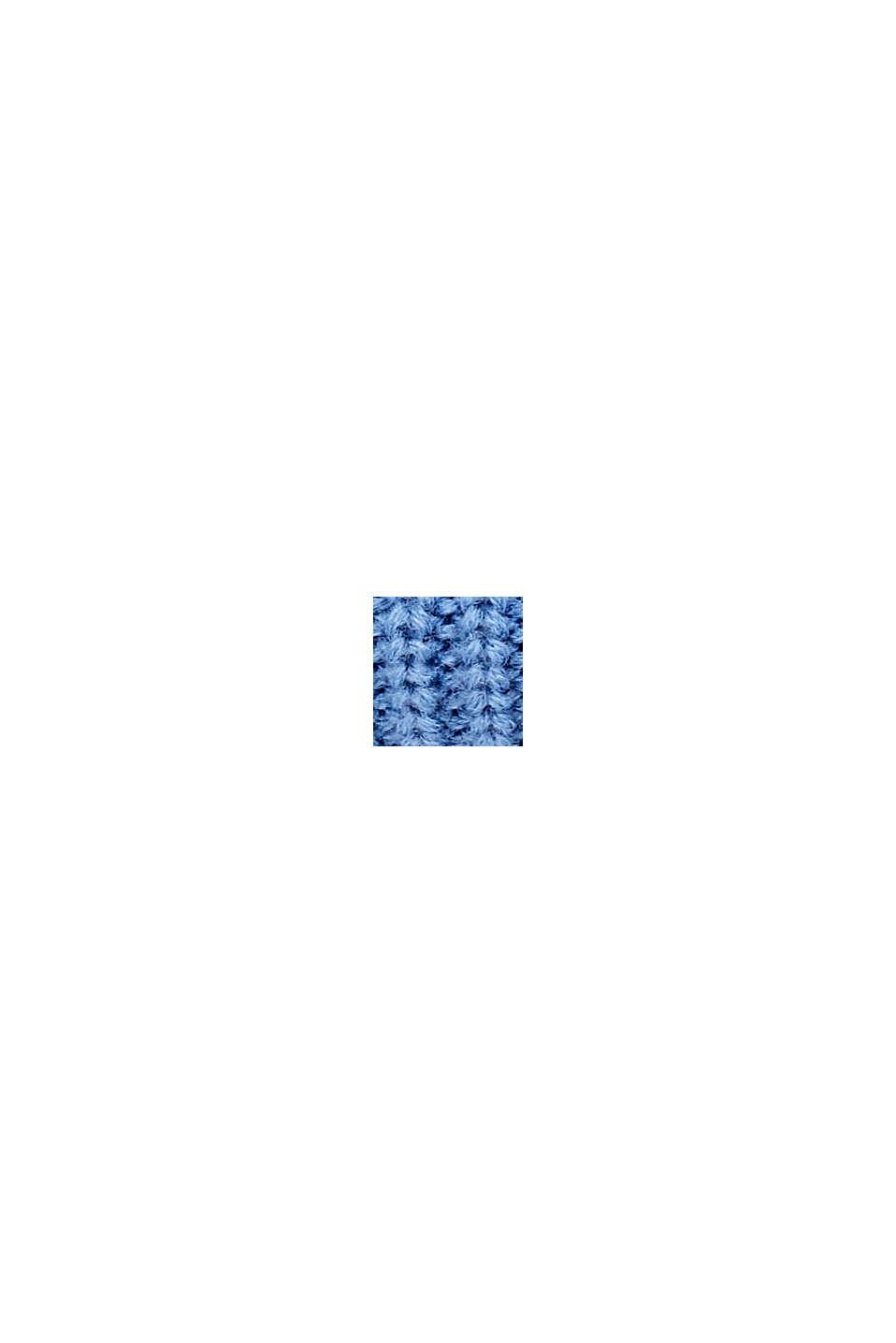 Bufanda cuello con lana de producción responsable, BLUE, swatch