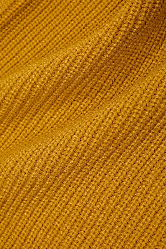 Sjaalkraag met Responsible Wool, YELLOW, detail image number 2