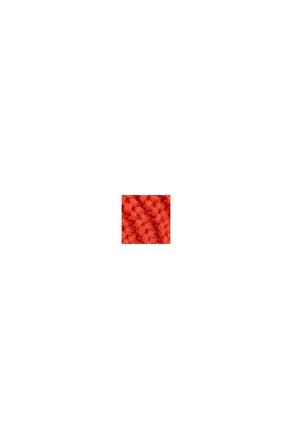 Col châle à teneur en laine éco-responsable, ORANGE, swatch