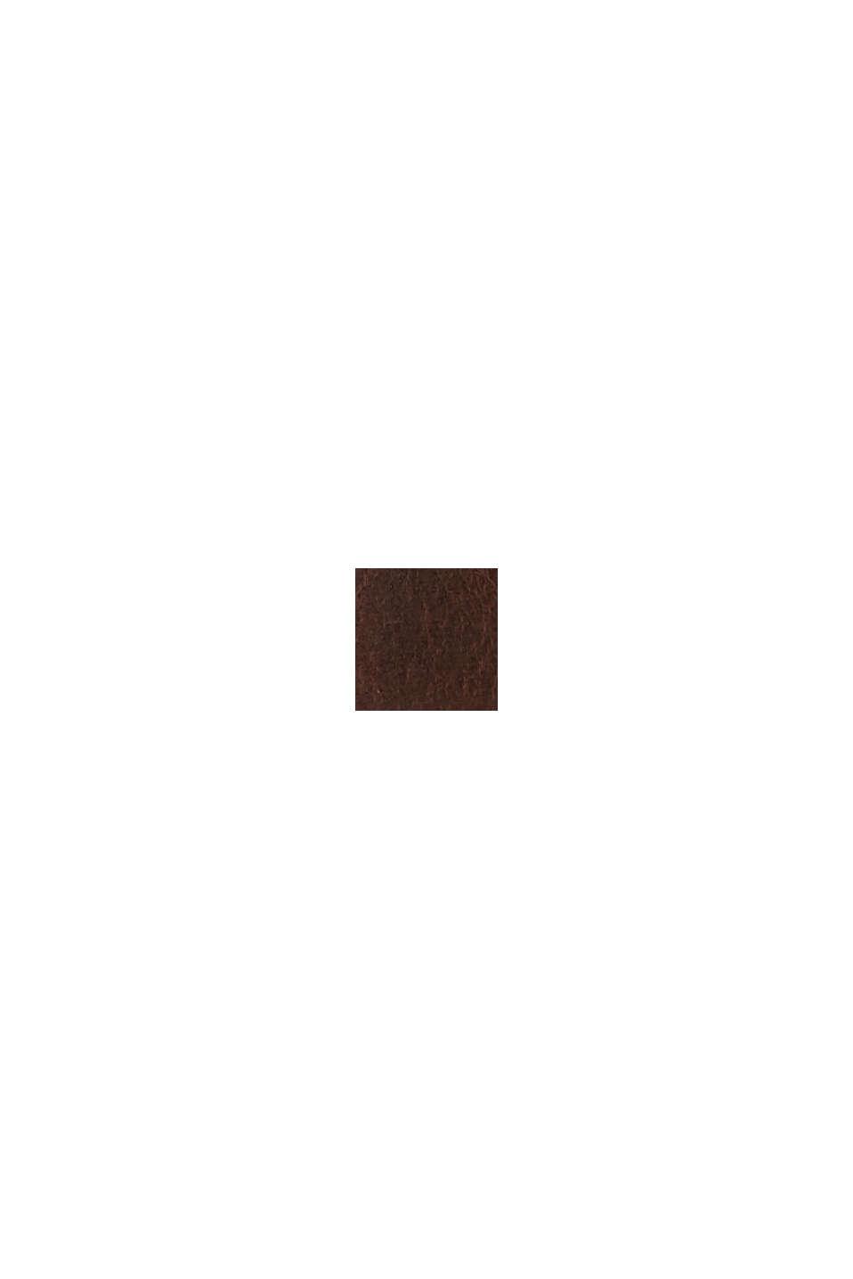 Ceinture basique en cuir de buffle, DARK BROWN, swatch