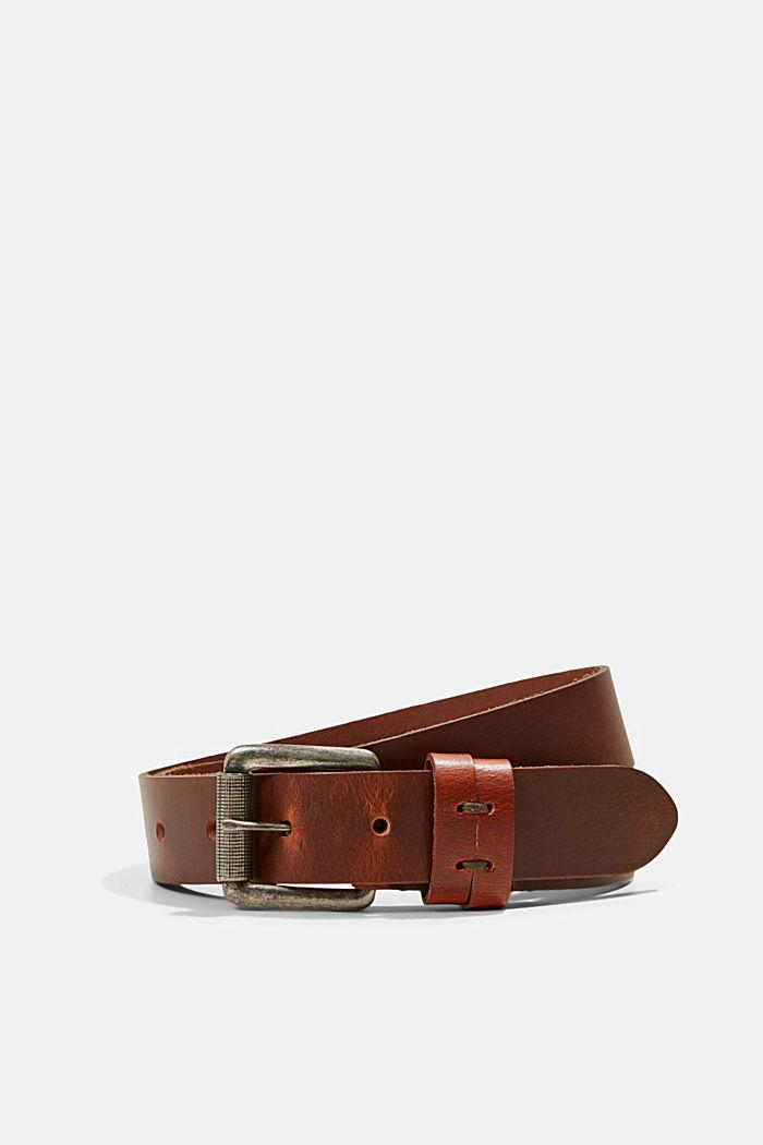Belts leather, BROWN, detail image number 0