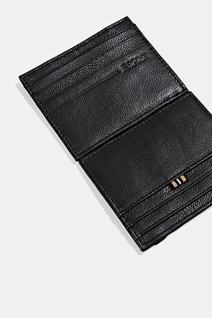 Kartenetui aus 100% Leder, chromfrei gegerbt, BLACK, detail image number 2
