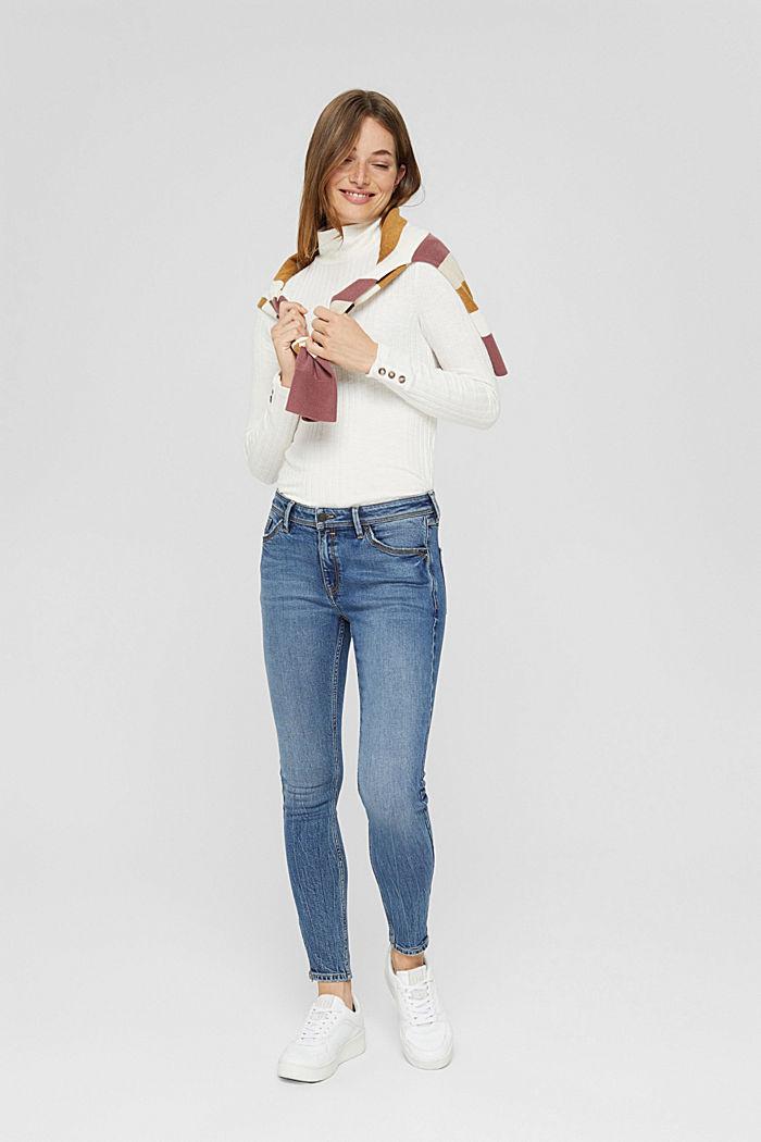 TENCEL™/biologisch katoen: Jeans met ritsen