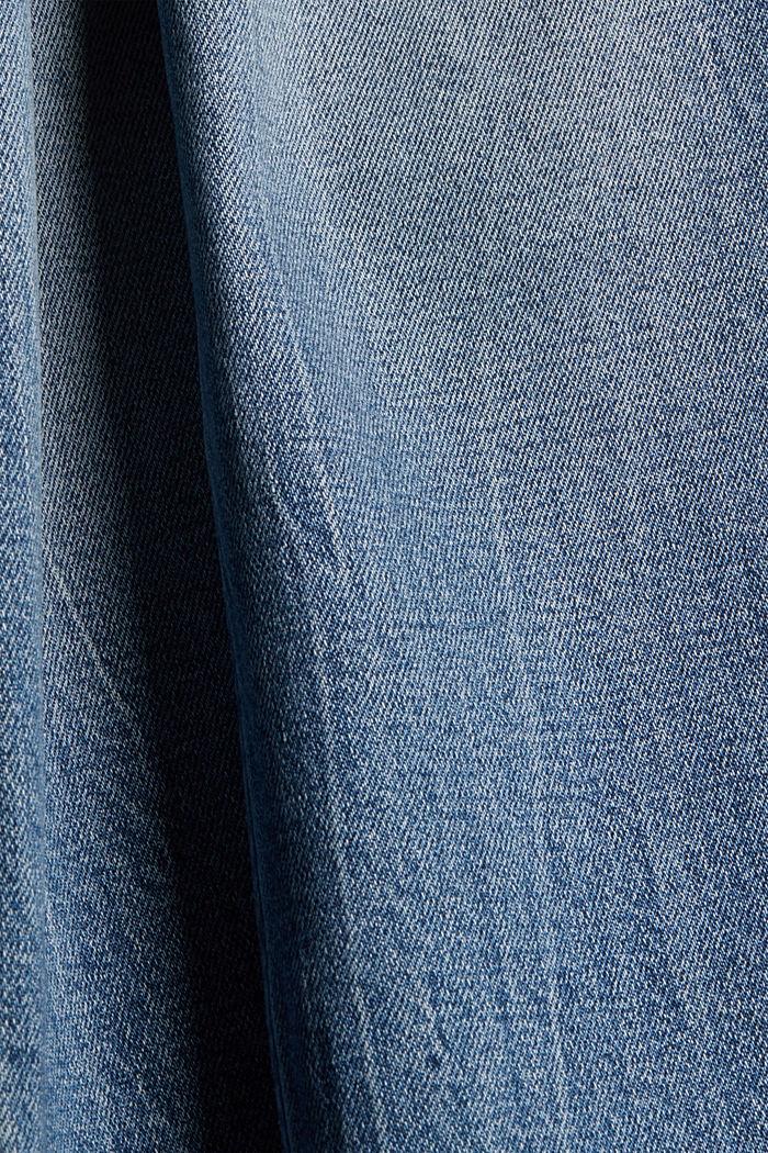 TENCEL™/Organic Cotton: Jeans mit Zippern, BLUE MEDIUM WASHED, detail image number 4