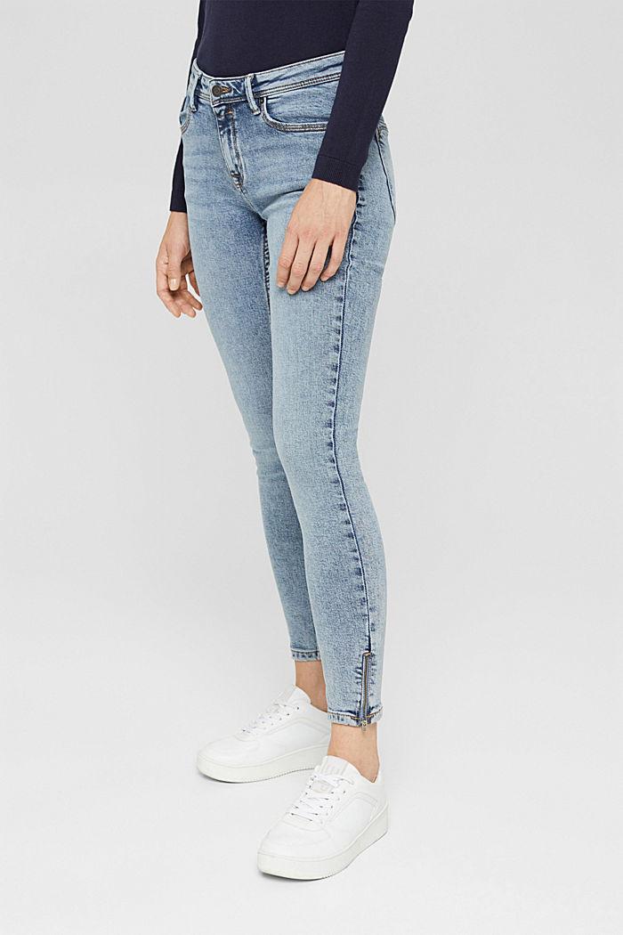 TENCEL™/biologisch katoen: Jeans met ritsen, BLUE LIGHT WASHED, detail image number 0