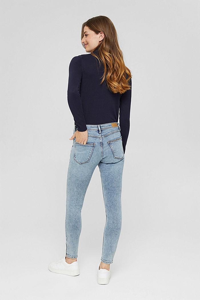 TENCEL™/biologisch katoen: Jeans met ritsen, BLUE LIGHT WASHED, detail image number 3