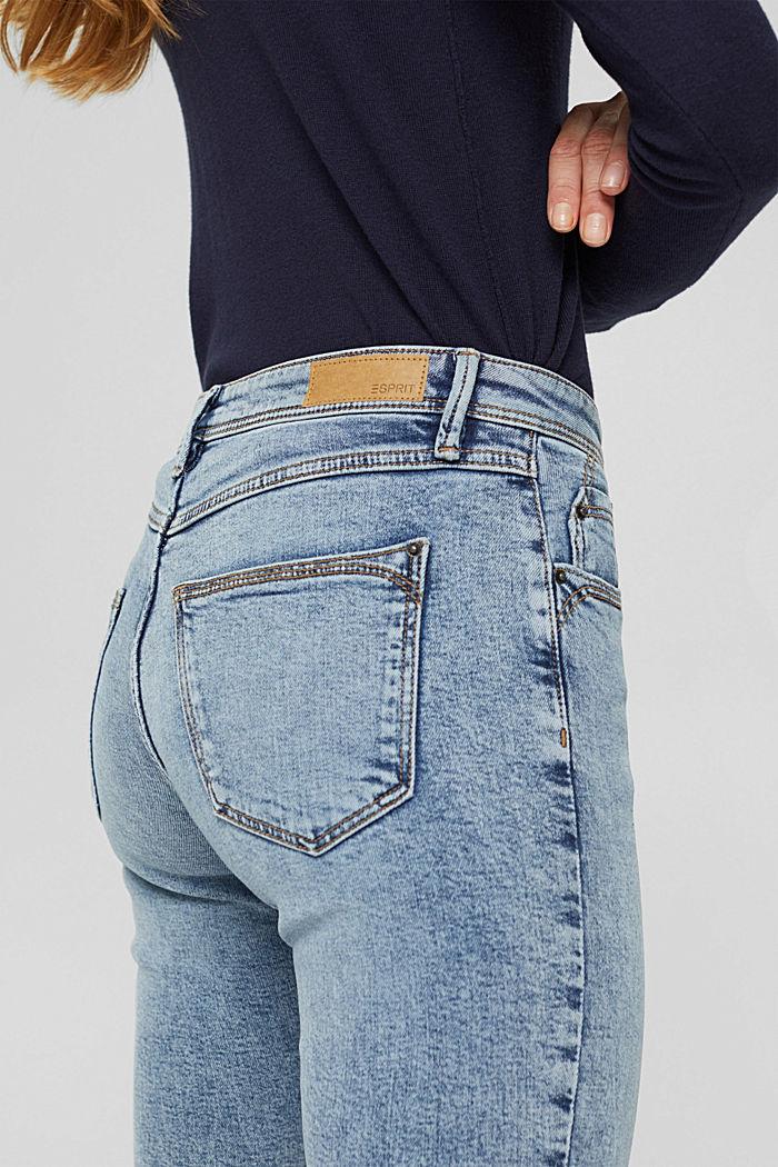 TENCEL™/biologisch katoen: Jeans met ritsen, BLUE LIGHT WASHED, detail image number 2