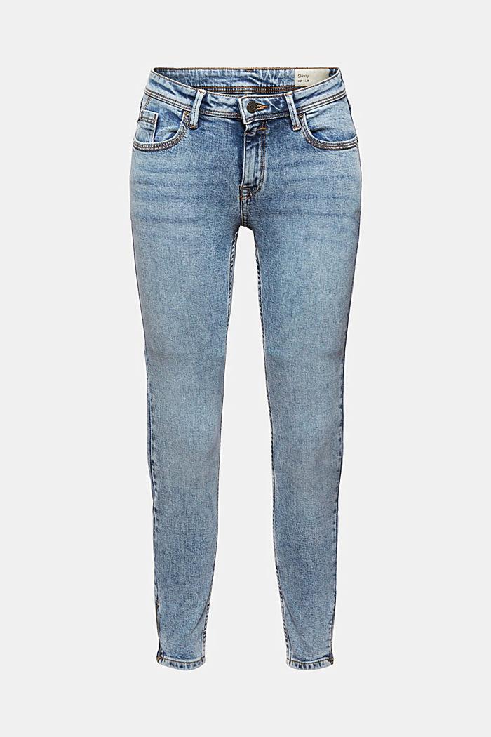 TENCEL™/biologisch katoen: Jeans met ritsen, BLUE LIGHT WASHED, detail image number 5