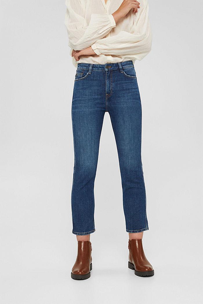 Cropped Jeans mit Kick Flare, BLUE DARK WASHED, detail image number 0