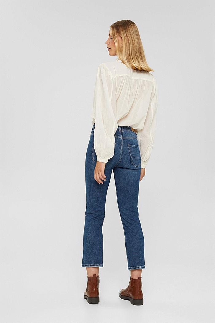 Cropped Jeans mit Kick Flare, BLUE DARK WASHED, detail image number 3